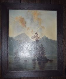 Original Oil on Canvas; vintage