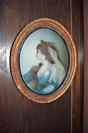 Reverse Painted Glass; Antique