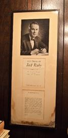 The Trial of Jack Ruby; some water damage at the bottom and on the back