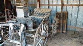 This antique buggy was just added to the sale today