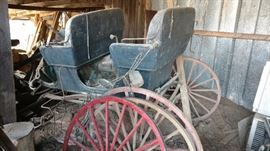This antique carriage was also just added to the sale today-Friday.