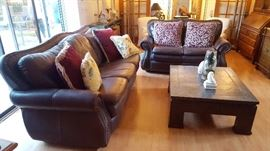 Leather Couch Set.