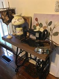 This old sewing machine made so many beautiful clothes. Add a piece of Farmhouse charm to your home.