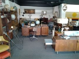 Left 1/4 of the 1500 square foot showroom.