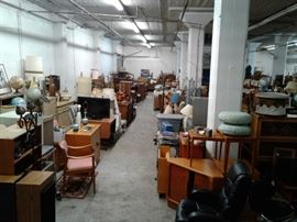 Left 1/3 of the 3700 square foot warehouse.