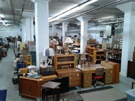 A look at the 3700 square foot warehouse FILLED with treasures that ALL must be gone by end of the week!