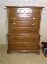 Ethan Allen Manor Highboy Dresser