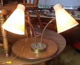 Mid Century Dual Light Table Lamp