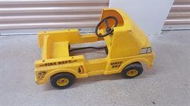 Yellow Fire Truck Pedal Car.