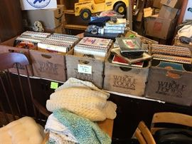 6 bins of records (5 pictured here).