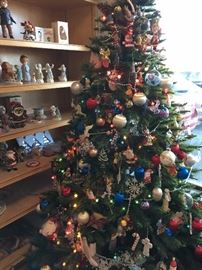 Vintage and Modern Christmas Decorations.  Some vintage handmade pieces to collectors pieces.