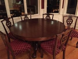 Antique Banquet Table / 6 Chairs/ leaves $2,495