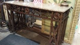 Granite top entry/hall table