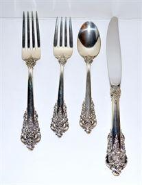 Wallace Baroque Sterling Flatware - 32 pieces