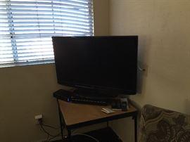 Flat Screen TV & Table
