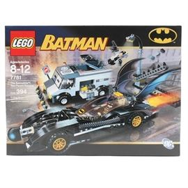 "Lego ""Batman"" The Batmobile: Two-Face's Escape: A Lego ""Batman"" The Batmobile"" Two-Face's Escape building toy. This set is numbered 7781 and is new in box."