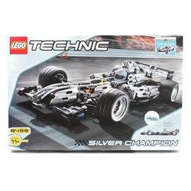 Lego Technic Silver Champion Building Set: A Lego Technic Silver Champion building set. This toy is numbered 8458 and is new in box.
