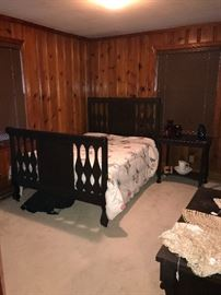 Circa 1910 bed, dresser, table, all in excellent condition