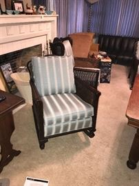 CIRCA 1932, THIS IS A 3 PIECE SET, ROCKER, CHAIR, AND SOFA, ALL VERY CLEAN AND IN VERY GOOD CONDITION, SOME WICKER AND DECORATIVE