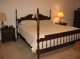 Pennsylvania House cherry 4 poster king size bed