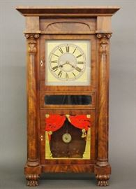 Marshall & Adams 8-day Empire Mahogany shelf clock