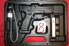 "8 SPRINGFIELD XD-9 AUTO 9 4"", 2 - 16 ROUND MAGS, CASE"