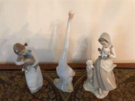 Lladro Girls & Goose