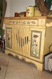 And the painted sideboard