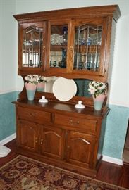 China hutch, use as is or it would be cute painted