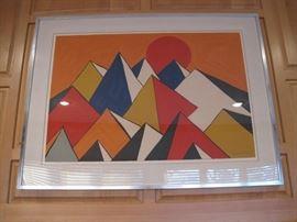 """Alexander Calder 36"""" X 48""""."""