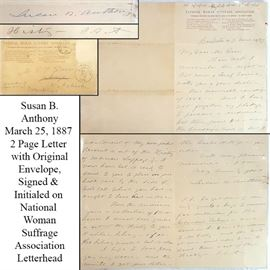 Ephemera Susan B Anthony Letter One