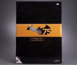 Offered is an unopened Batman figure collector set. The box shows normal wear and there is a price sticker on the front. Please see the photos at completeset.com for details.
