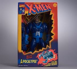 Offered is a deluxe X-Men figure from Toy Biz, new in box. The box shows minor shelf wear. Please see the photos at completeset.com for details.