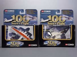 Offered is a lot of 2 boxed 100 Years of Flight vehicles from Corgi. The boxes show minor shelf wear but the toys are undamaged. Please see the photos at completeset.com for details.