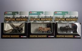 Offered is a lot of 3 boxed Fighting Machine vehicles from Corgi. The boxes show minor shelf wear but the toys are undamaged. Please see the photos at completeset.com for details.