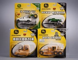 Offered is a lot of 6 John Deere vehicles from ERTL. The packages show minor shelf wear but the toys are undamaged. Please see the photos at completeset.com for details.