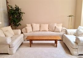 Sofa and 2 oversized armchairs
