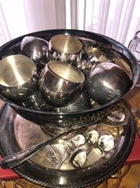 SILVER-PLATED PUNCH BOWL