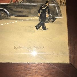 WILLIAM ALLISON BOSTICK SIGNED LITHO