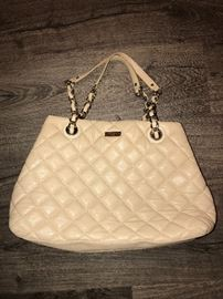 KATE SPADE QUILTED TAN LEATHER TOTE