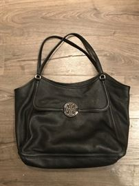 BLACK LEATHER TORY BURCH TOTE