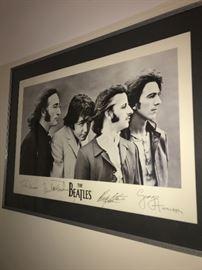 BEATLES FRAMED ART