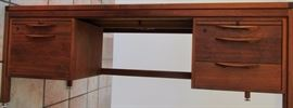 Jens Risom solid walnut executive. desk Desk  # 1 Front side
