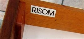 Desk #  1 with classic Risom metallic tag