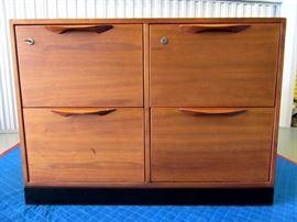 Jens Risom Walnut File Cabinet