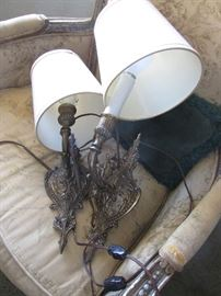 Pr. French style wall sconces $250.00 pr.