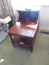 Cherry end table $100.00