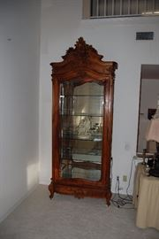 8 Foot tall Antique French Display Cabinet