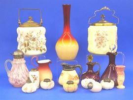 Art glass and biscuit barrels