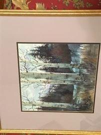 Signed Original Watercolor by Colorado artist David Throndson '03
